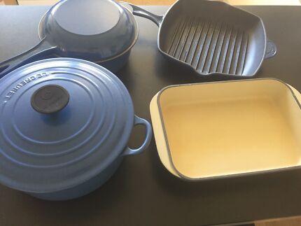 Le Creuset Cast Iron Enamel Cookware Set