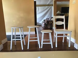 Stools and chair.