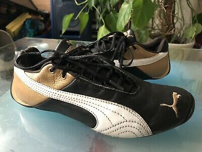 PUMA SPEED CAT LOW MENS BLACK/GOLD/WHITE TRAINERS SHOES UK5 EUR38 301385-11