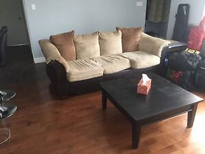 Couch 50$ coffee table 50$