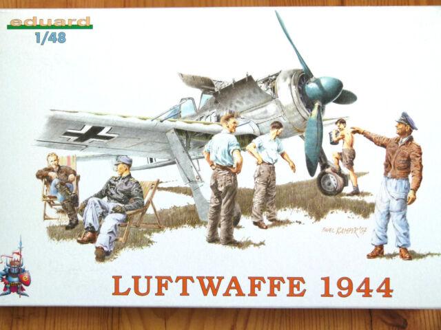 Eduard 1:48 Luftwaffe 1944 WWII Personnel Figures Model Kit
