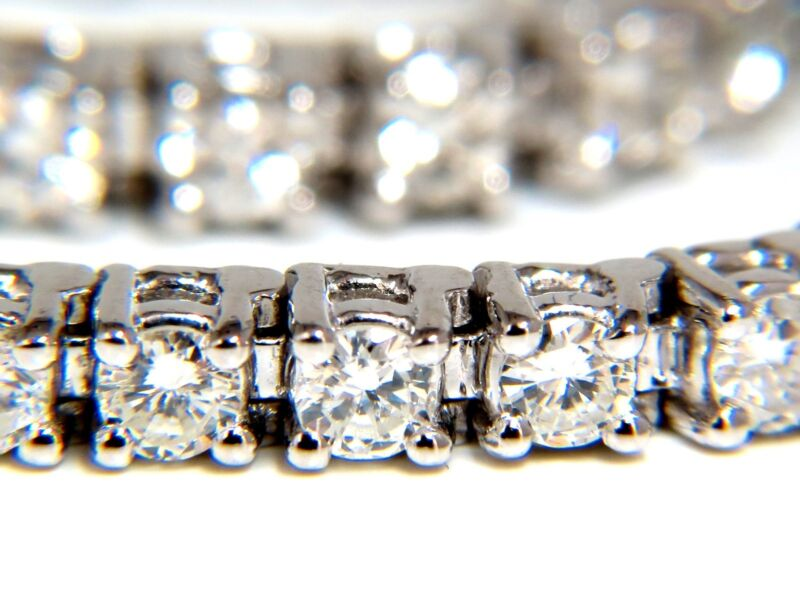 $8500 3.70ct Natural Diamonds Classic Tennis Bracelet 14kt G/si-1