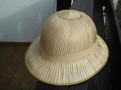 Tropen-Helm für Fasching Karneval Kostüm Theater Original Bambus Blätter Indien