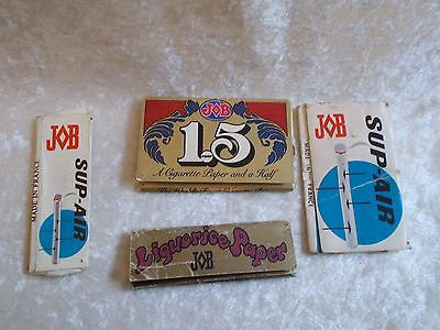 Vintage JOB/JB Liquorice (France) Cigarette Rolling Papers Packs - Empty