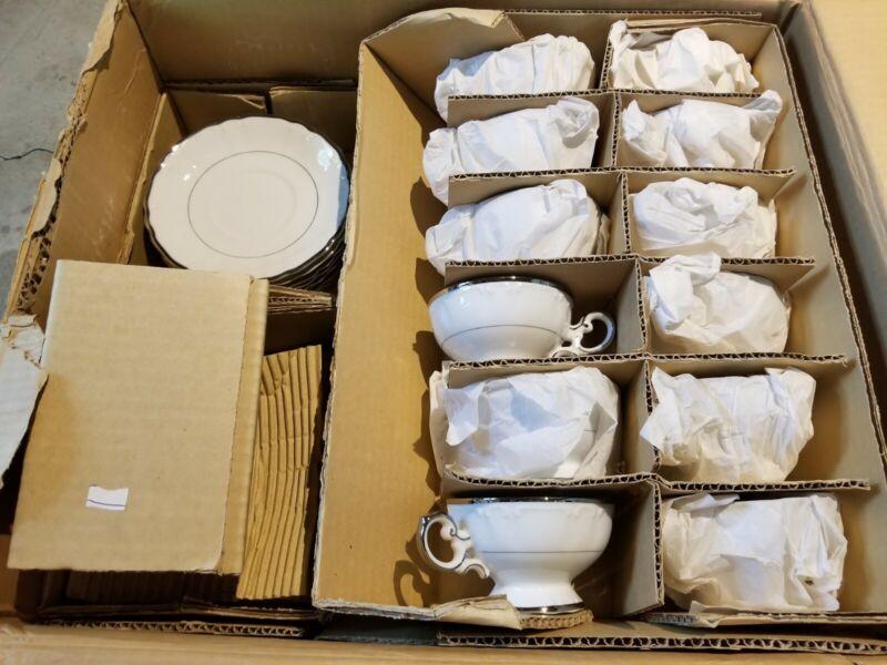 Vintage 53 Piece Harmony House Silver Sonata 3639 Dish Set Sears New in Box