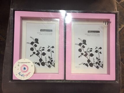 Pick photo picture frames or shadow boxes x2 great for girls room
