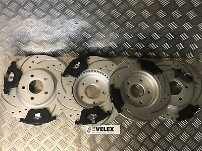 Focus C Max 03-07 drilled /& Grooved rear brake discs