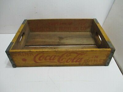 1962 Coca Cola Yellow 24 Bottle Wood Crate Made by ACME---FREE SHIPPING