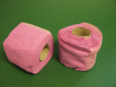 2x DDR Toilettenpapier Klopapier Klopapierrollen rosa rot Kult Gag Krepp farbig