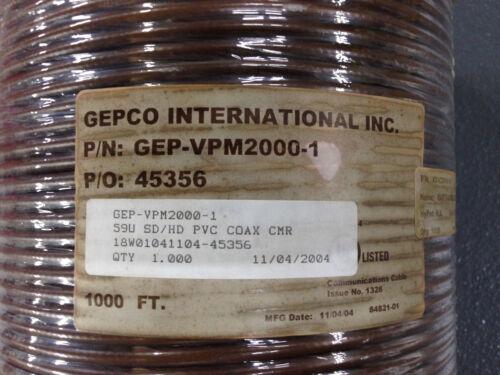 Gepco VPM2000-1 Brown High Definition SDI Coax Standard RG59