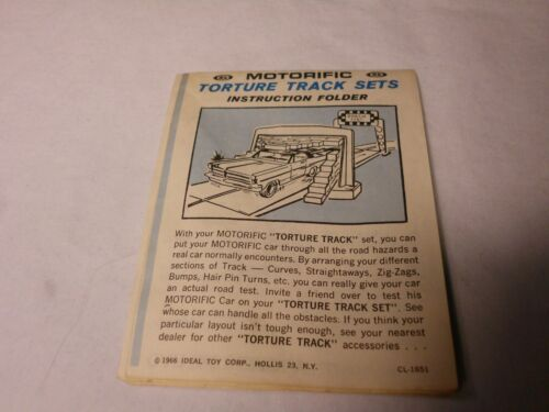 Ideal Motorific Set Torture Track Instructions Only