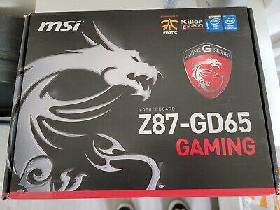 MSI Z87-GD65 GAMING Motherboard With i7 4770k CPU & Kingston HyperX 32gb RAM