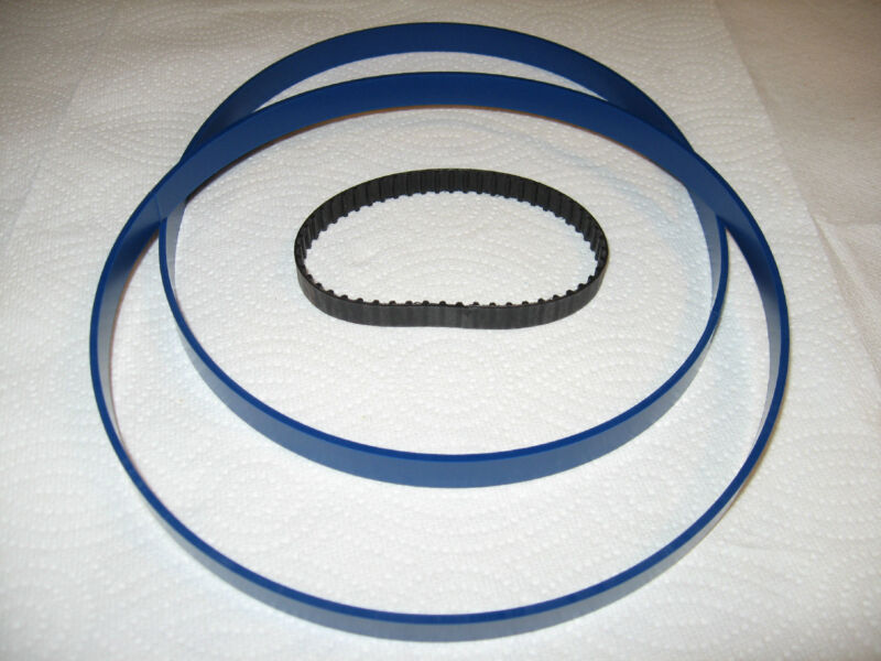"""2 Blue Max Urethane Band Saw Tires And Drive Belt For 9"""" Wilton 99162 Band Saw"""