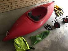 Red Kayak single seat with accessories Clayfield Brisbane North East Preview