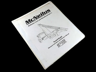 1999 Mcneilus 2460 Rigid Tail Roll Off Parts Book Maintenance Manual