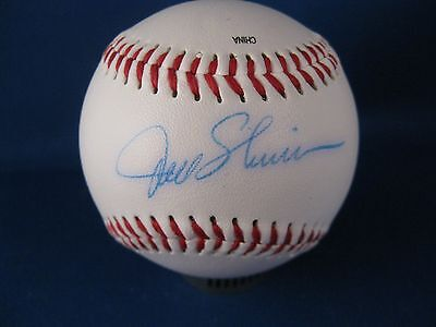 Joel Skinner signed Official league  baseball with a Personal COA included
