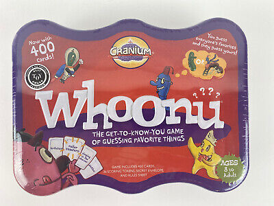 New/Sealed Whoonu By Cranium,2008, Best Toy Award, Get To Know You Game, Ages (Best Toys By Age)