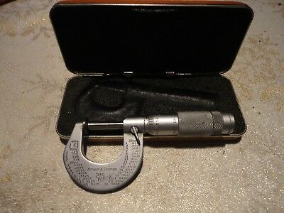 Brown And Sharpe No.215 Disc Micrometer Vintage Great Condition