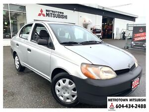 2002 Toyota Echo Base; Local BC vehicle! LOW KMS!