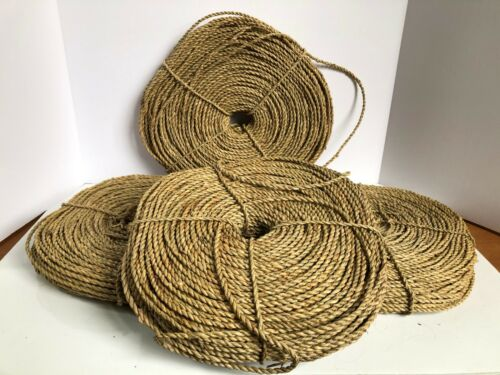 Braided Seagrass  3 lb coils. 4 available Basket making,
