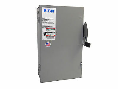 60 Amp Non-Fused Disconnect Switch 3 Phase - Eaton Cutler Hammer DG322UGB - New (Fuse Disconnect)