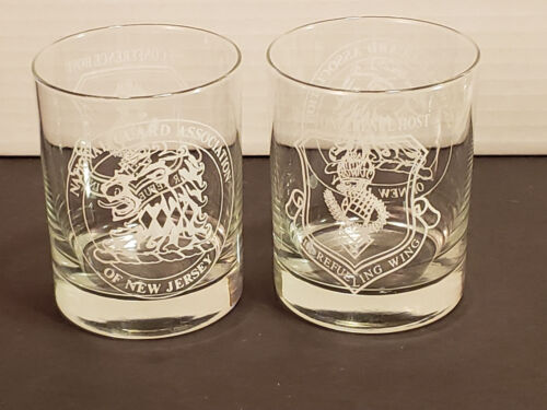 New Jersey National Guard Association Air Refueling Wing Drinking Glasses 1995