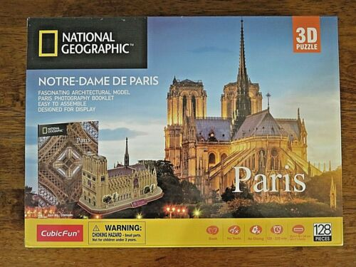 CubicFun National Geographic 3D Puzzle Architectural Model NOTRE DAME DE PARIS