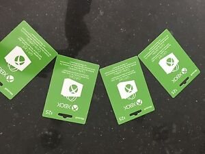 Xbox gift cards 4x $25 each