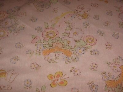 Vintage Cabbage Patch Kids Twin Fitted Sheet & Pillowcase 1983 Fabric for sale  Morganton