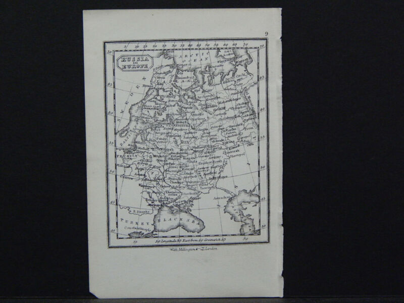 Miniature Map, c. 1850 #27 Russia in Europe