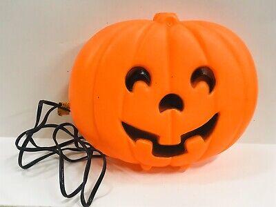 Vtg Halloween Pumpkin Jack O Lantern Plastic Blow Mold Hanging Table Top Light