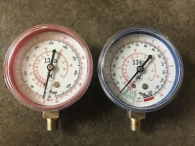 Low Side Gauge - R134A REPLACEMENT GAUGES HIGH AND LOW SIDE RED AND BLUE (FREE SHIPPING)