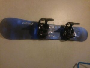 Flow snowboard with Burton Cartel bindings