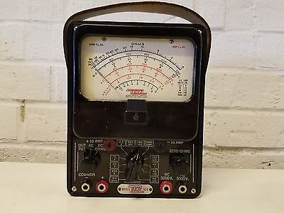 Vintage Eico Model 555 Electric Volt Meter Ohmeter With Leather Carrying Handle