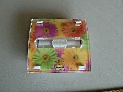4 Post-it Pop Up Notes Dispenser Professional Series Weighted Daisy Flowers