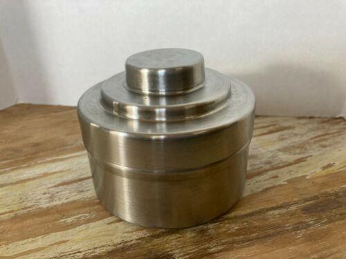 Vintage stainless steel Nikor Honeywell 35mm film developiong tank w/single reel