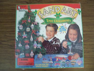 NSI Sand Art Christmas Tree Ornaments Kid's Family Crafts SEALED ()