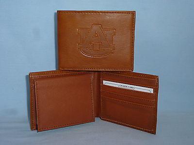 AUBURN TIGERS   Leather BiFold Wallet    NEW    brown 4