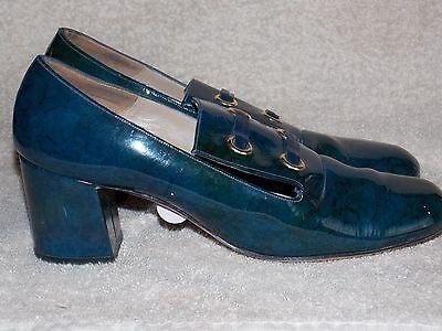 Joseph Mezzo Blue SAILOR Heels 8AA For Women Used  - Sailor Heels