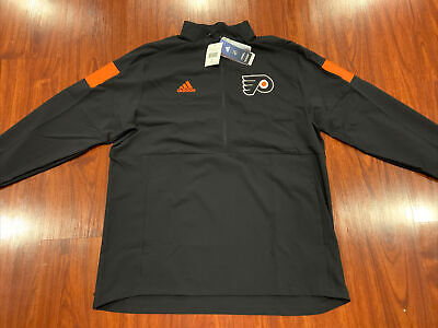 Adidas Men's Philadelphia Flyers Hockey NHL Game Mode 1/4 Zip Jacket Large L
