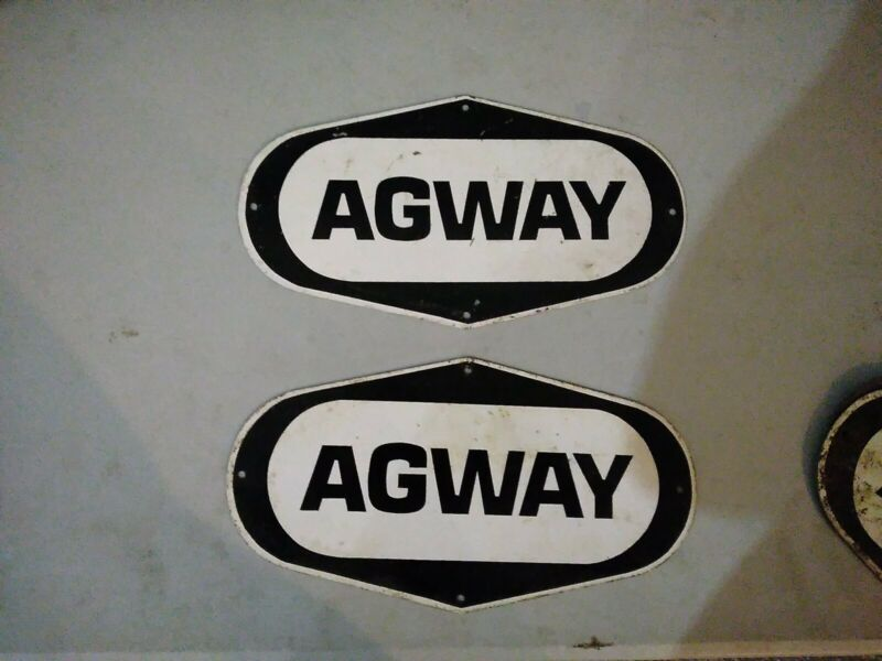 """Vintage Agway Farm Seed Agricultural Advertising Sign Metal great shape10""""×5.25"""""""