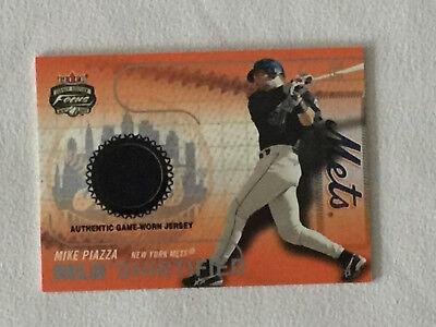 2003 Fleer Focus MIKE PIAZZA MLB Shirtified Game Used Jersey Baseball Card 2003 Fleer Mlb Baseball