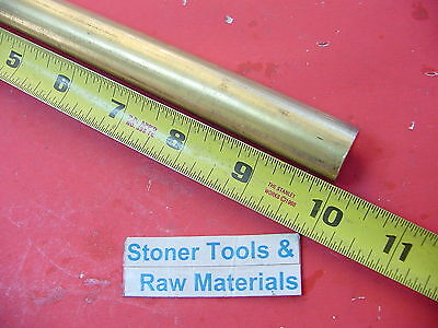 34 C360 Brass Round Rod 10 Long Solid .750 Diameter New Lathe Bar Stock H02
