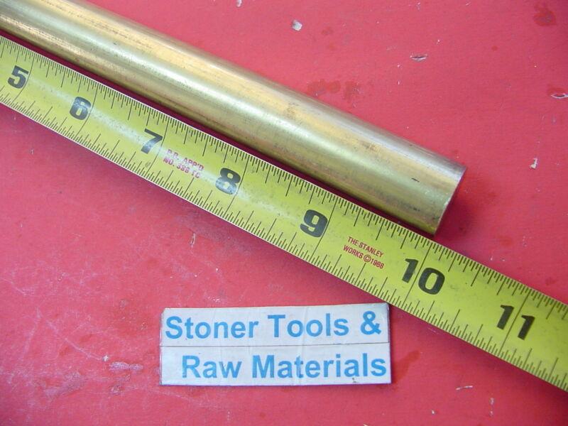 "3/4"" C360 BRASS ROUND ROD 10"" long Solid .750"" Diameter New Lathe Bar Stock  H02"
