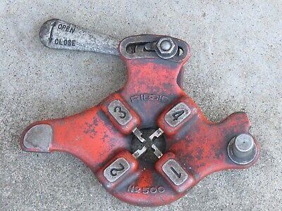 Ridgid No. 500 Quick Opening 18 Bolt Pipe Threading Die Head