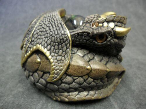 Windstone Editions NEW * Stone Curled Dragon * Statue Figurine Fantasy