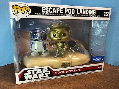 Disney Star Wars Funko Pop Movie Moments #222 Escape Pod Landing R2D2 & C3P0