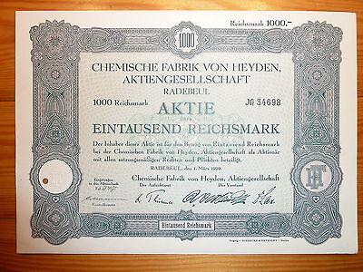 D: Chemische  Fabrik von Heyden, Radebeul, 1929, 1000 RM *