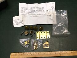 NOS Vintage Clock Parts Leveling Feet, Hinges, Knobs, Screws w/ Paperwork