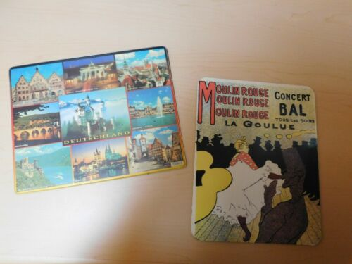 Mouse Pads - 2 from Europe,   Deutschland/Germany   and  Moulin Rouge